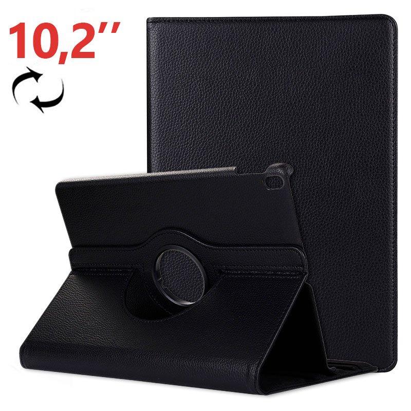 Funda iPad (2019) 10,2 pulg Giratoria Polipiel Negro