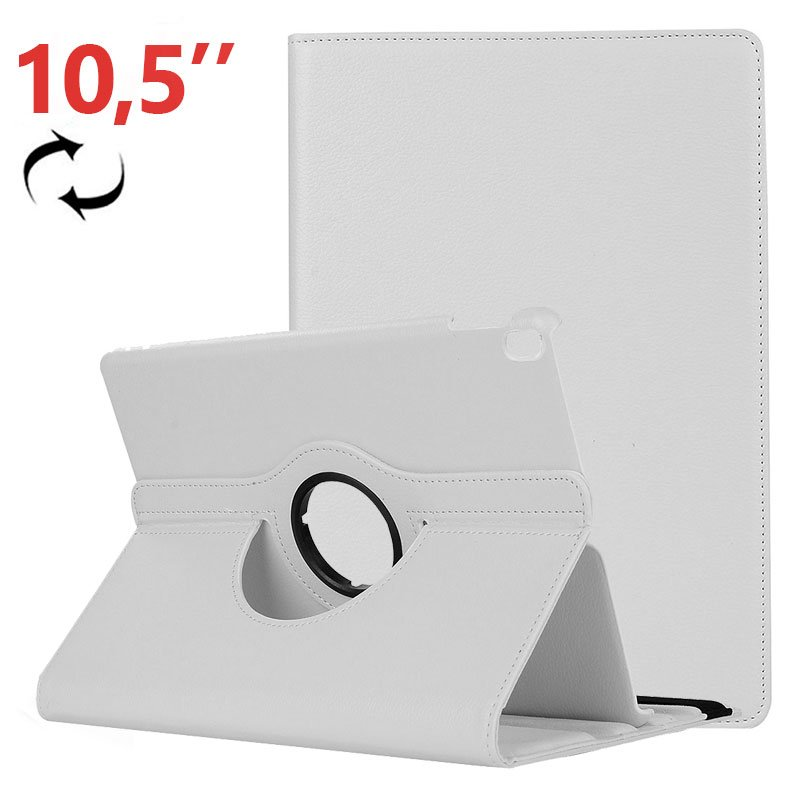 Funda iPad Pro 10.5 / iPad Air 2019 10.5 Giratoria Polipiel Blanca