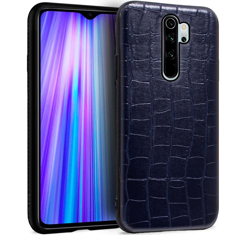 Carcasa Xiaomi Redmi Note 8 Pro Leather Crocodile Marino