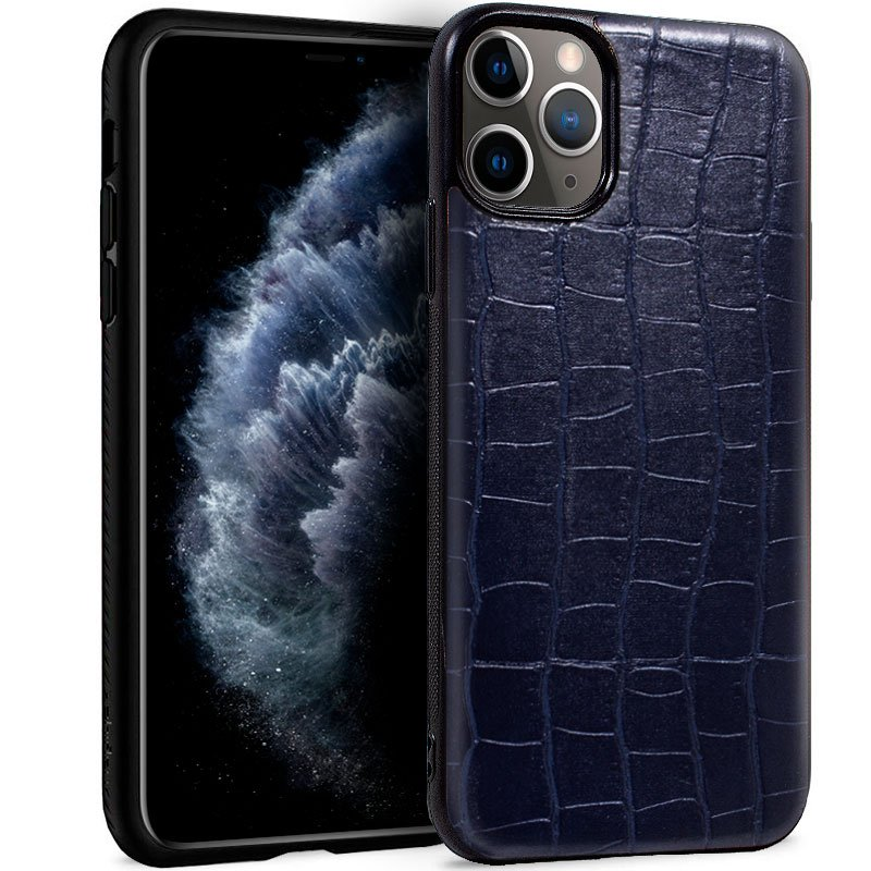 Carcasa iPhone 11 Pro Leather Crocodile Marino