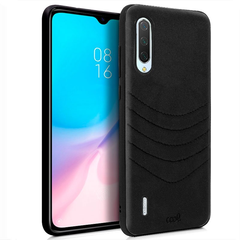 Carcasa Xiaomi Mi 9 Lite Leather Bordado Negro