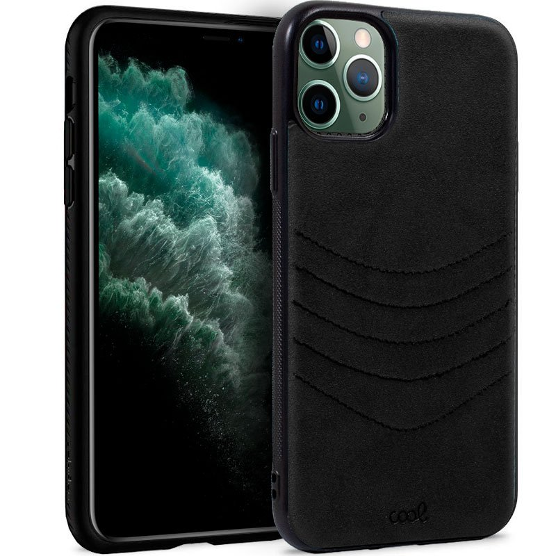 Carcasa iPhone 11 Pro Max Leather Bordado Negro