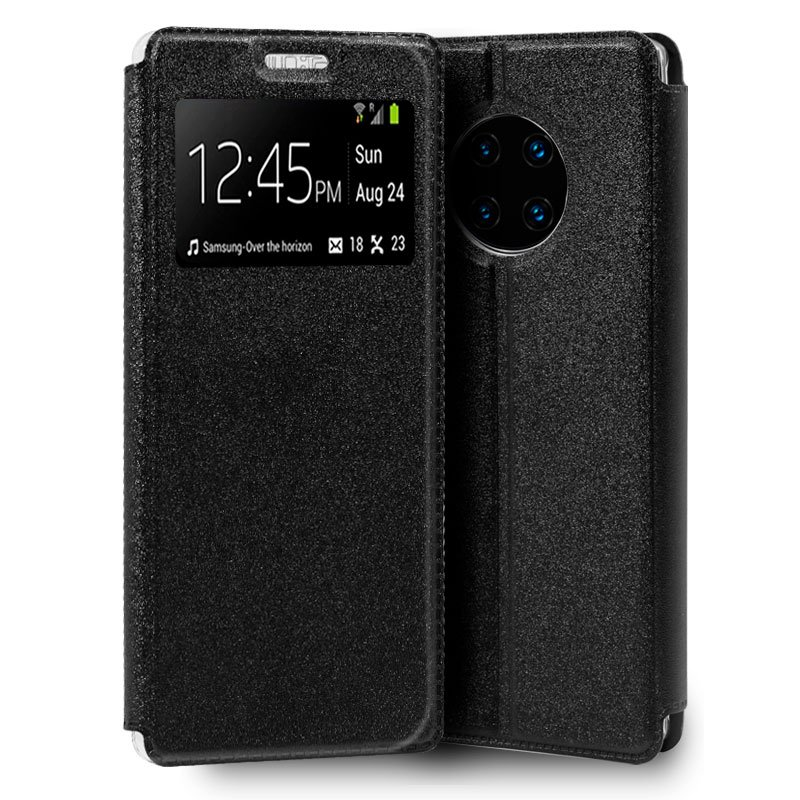 Funda Flip Cover Huawei Mate 30 Pro Liso Negro