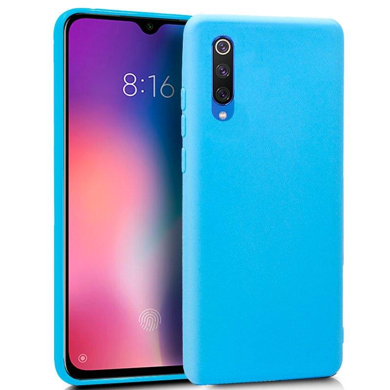 Funda Silicona Xiaomi Mi 9 SE (Celeste)