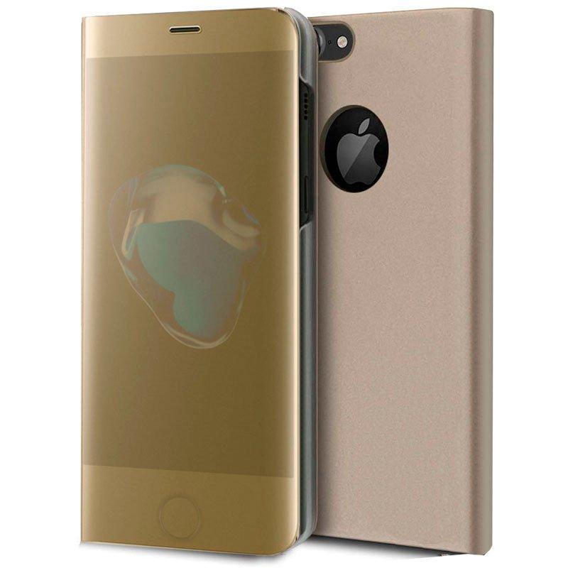 Funda Flip Cover iPhone 7 / iPhone 8 Clear View Dorado