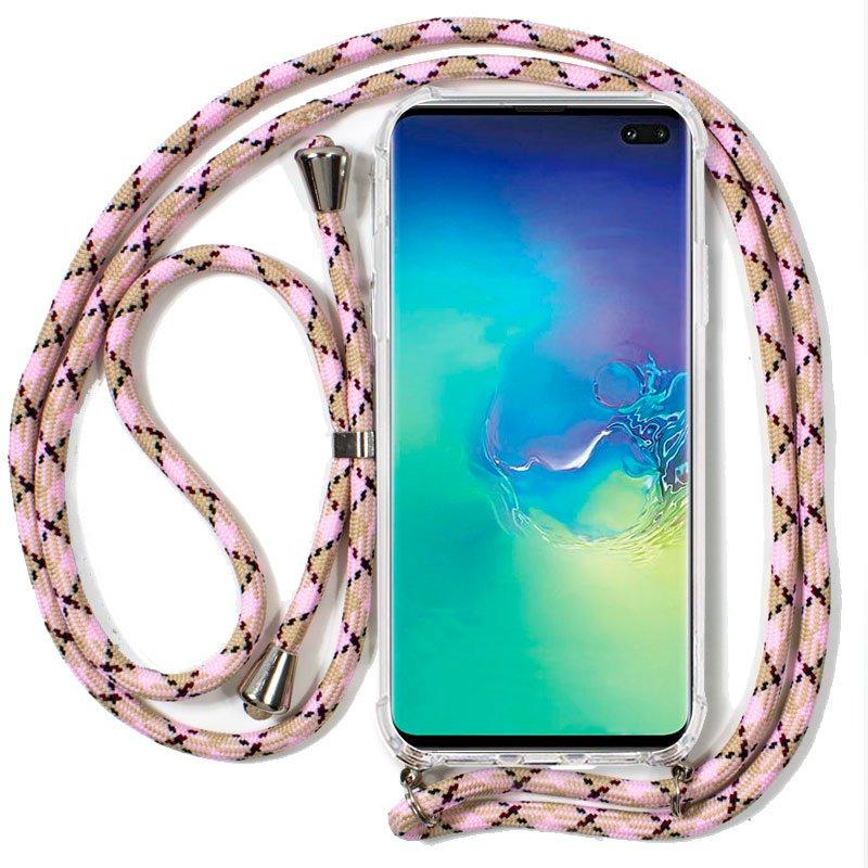 Carcasa Samsung G975 Galaxy S10 Plus Cordón Rosa