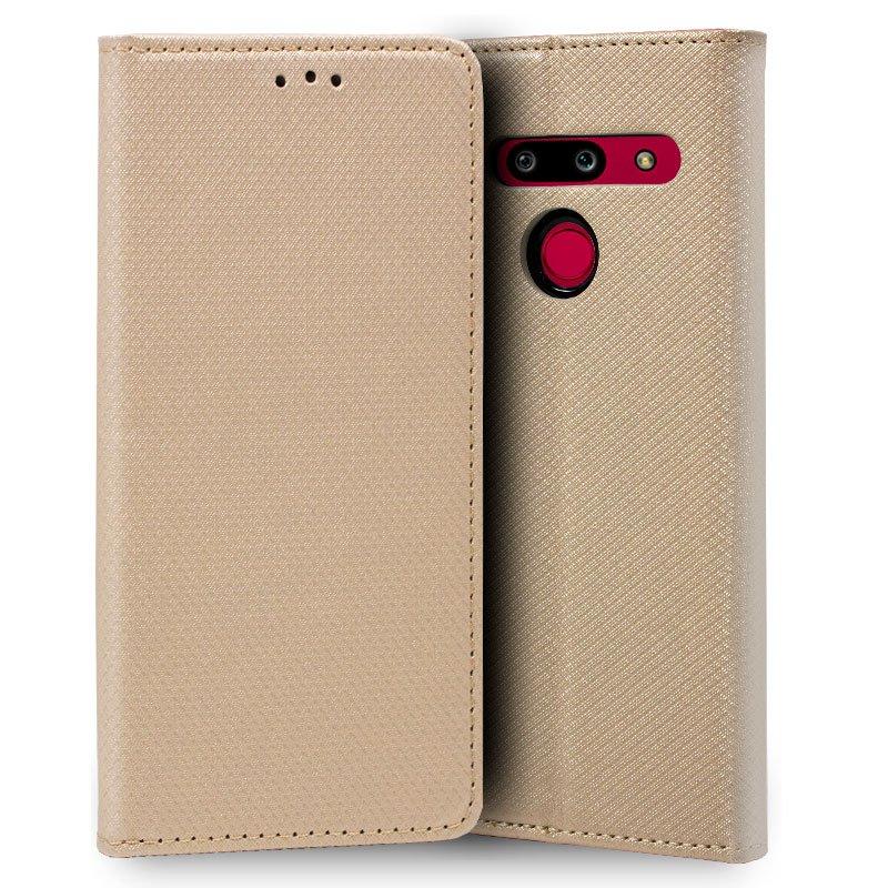 Funda Flip Cover LG G8 ThinQ Liso Beige