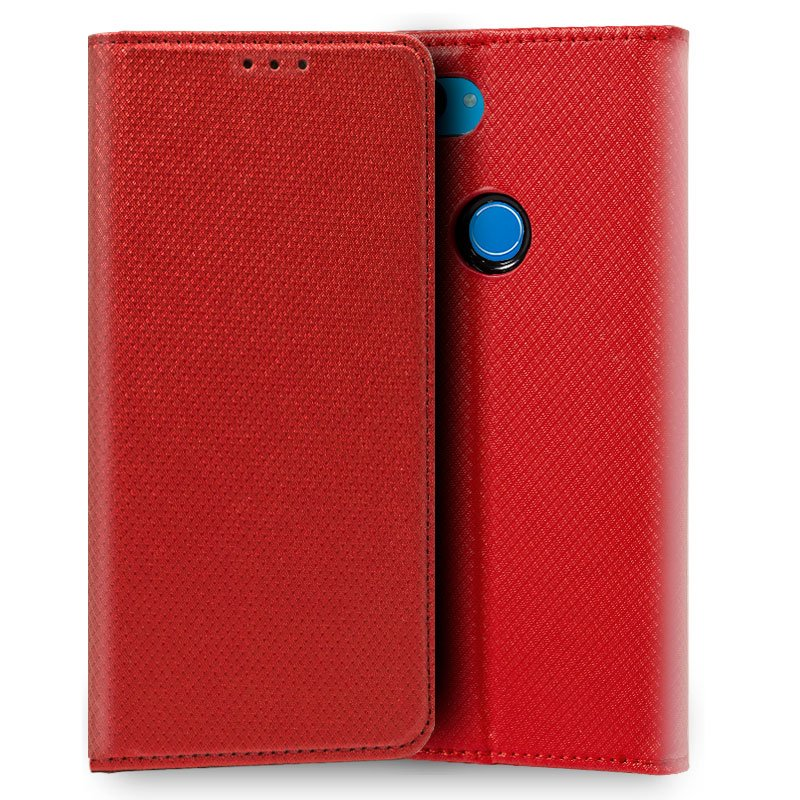 Funda Flip Cover Xiaomi Mi 8 Lite Liso Rojo