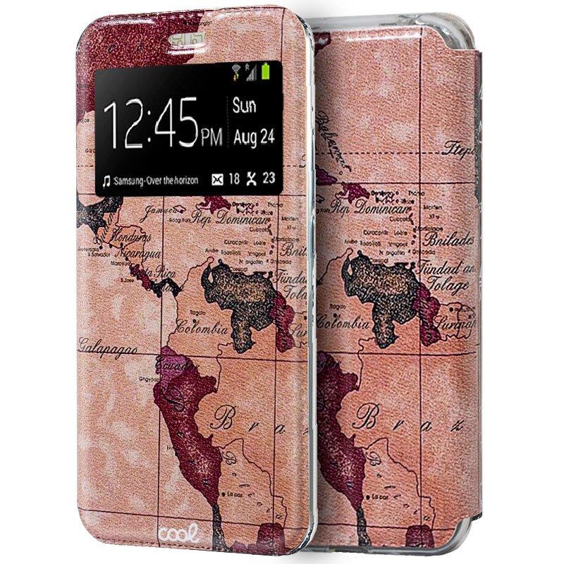 Funda Flip Cover Xiaomi Mi 9 Dibujos Mapa