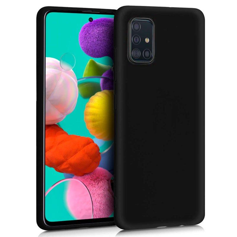 Funda Silicona Samsung A515 Galaxy A51 (Negro)