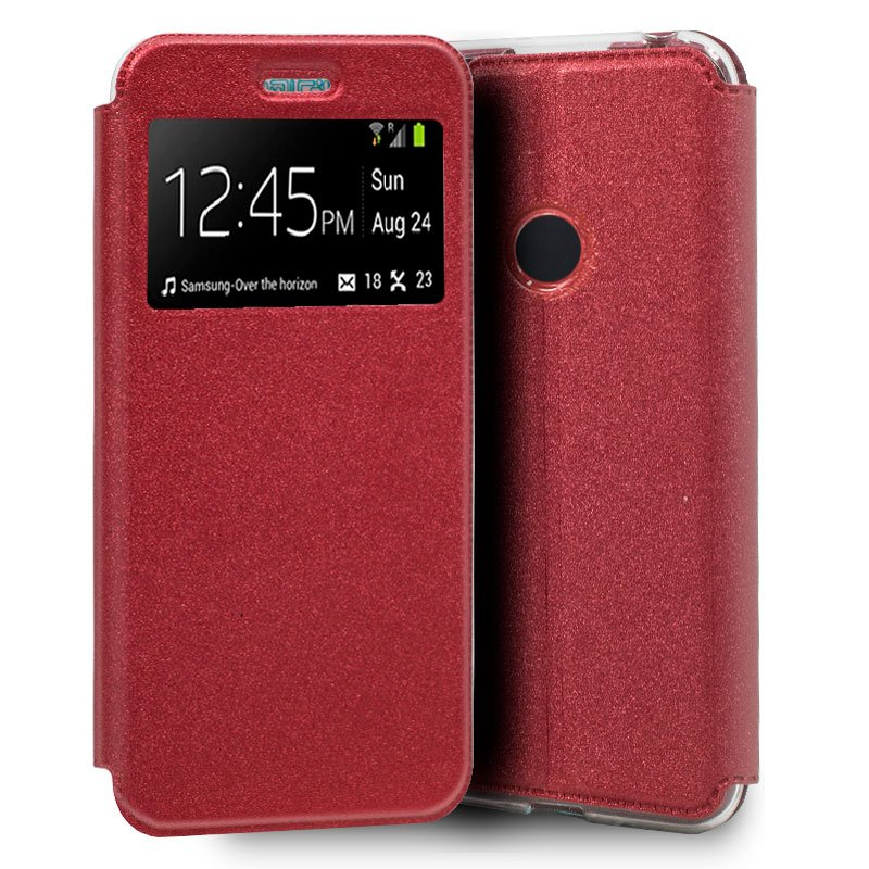 Funda Flip Cover Xiaomi Redmi Note 8 Liso Rojo