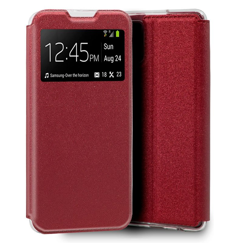 Funda Flip Cover Samsung A715 Galaxy A71 Liso Rojo