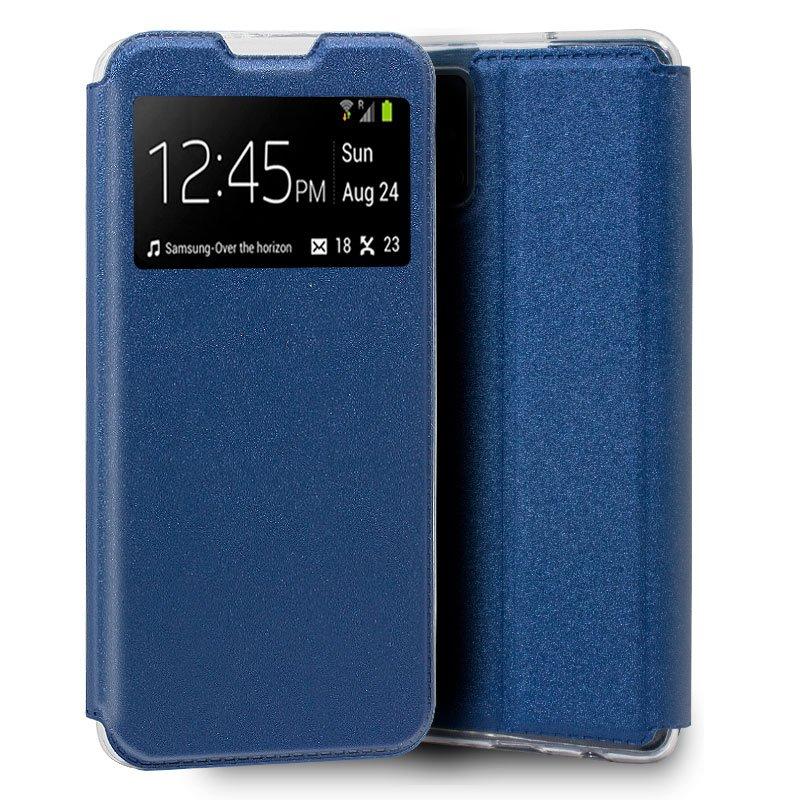 Funda Flip Cover Samsung A715 Galaxy A71 Liso Azul