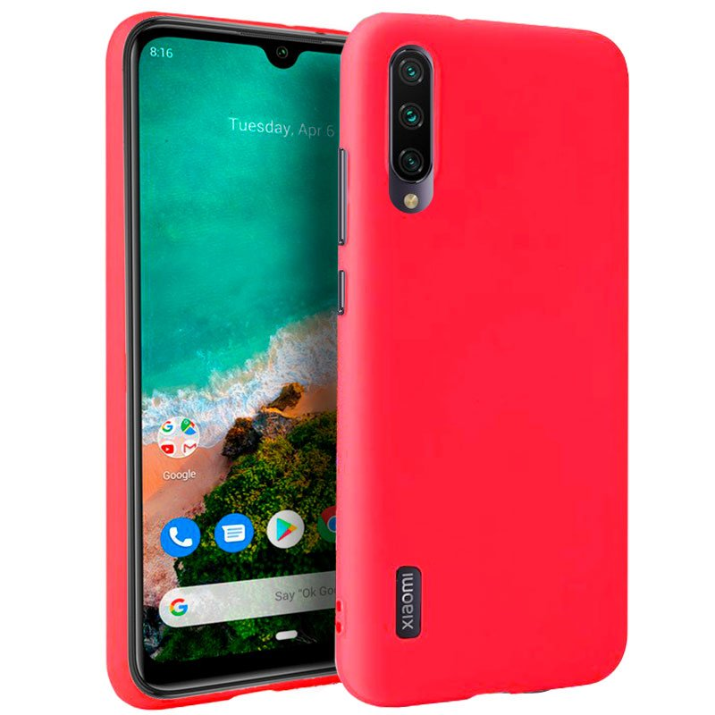 Funda Silicona Xiaomi Mi A3 (Rojo)