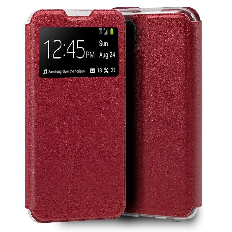 Funda Flip Cover Huawei P40 Lite Liso Rojo
