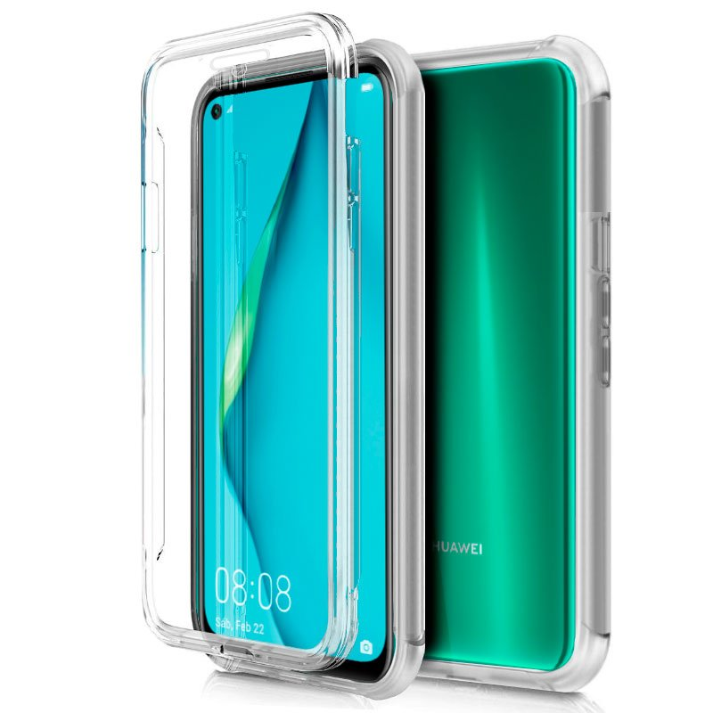 Funda Silicona 3D Huawei P40 Lite (Transparente Frontal + Trasera)