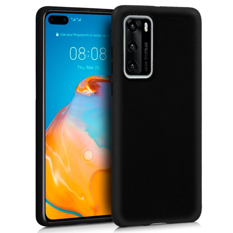 Funda Silicona Huawei P40 (Negro)