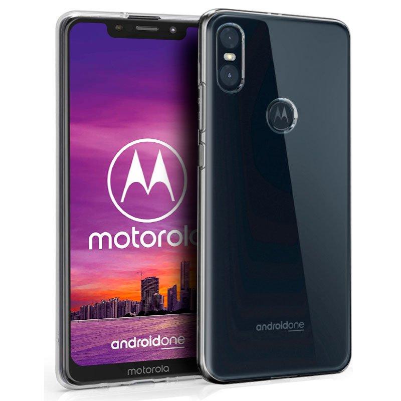 Funda Silicona Motorola Moto One (Transparente)