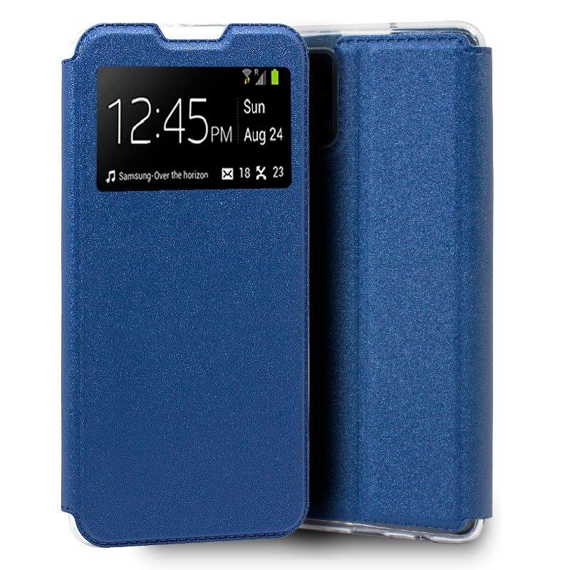 Funda Flip Cover Samsung A415 Galaxy A41 Liso Azul