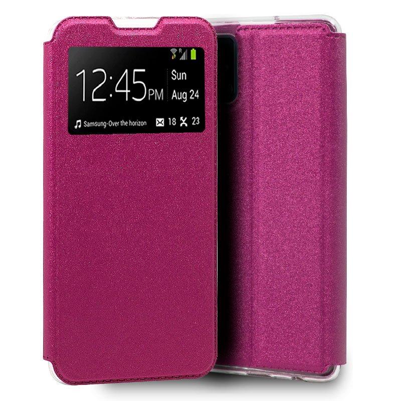 Funda Flip Cover Samsung A415 Galaxy A41 Liso Rosa