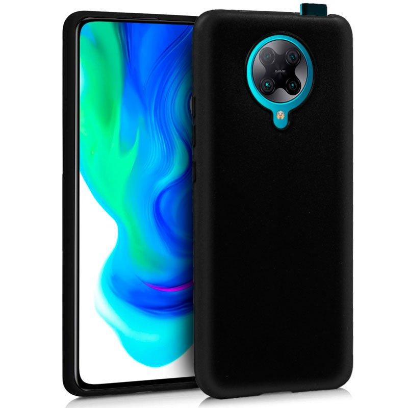 Funda Silicona Xiaomi Pocophone F2 Pro (Negro)