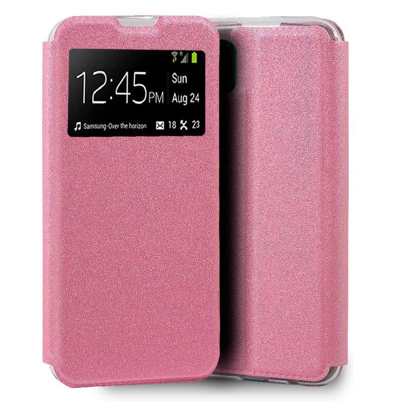 Funda Flip Cover Huawei P40 Lite Liso Rosa