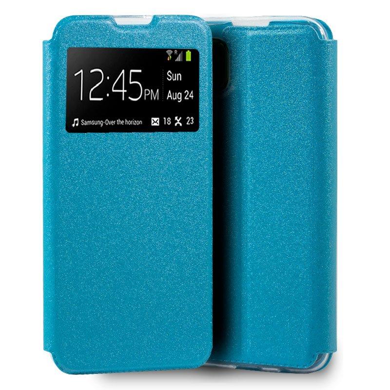 Funda Flip Cover Huawei P40 Lite Liso Celeste
