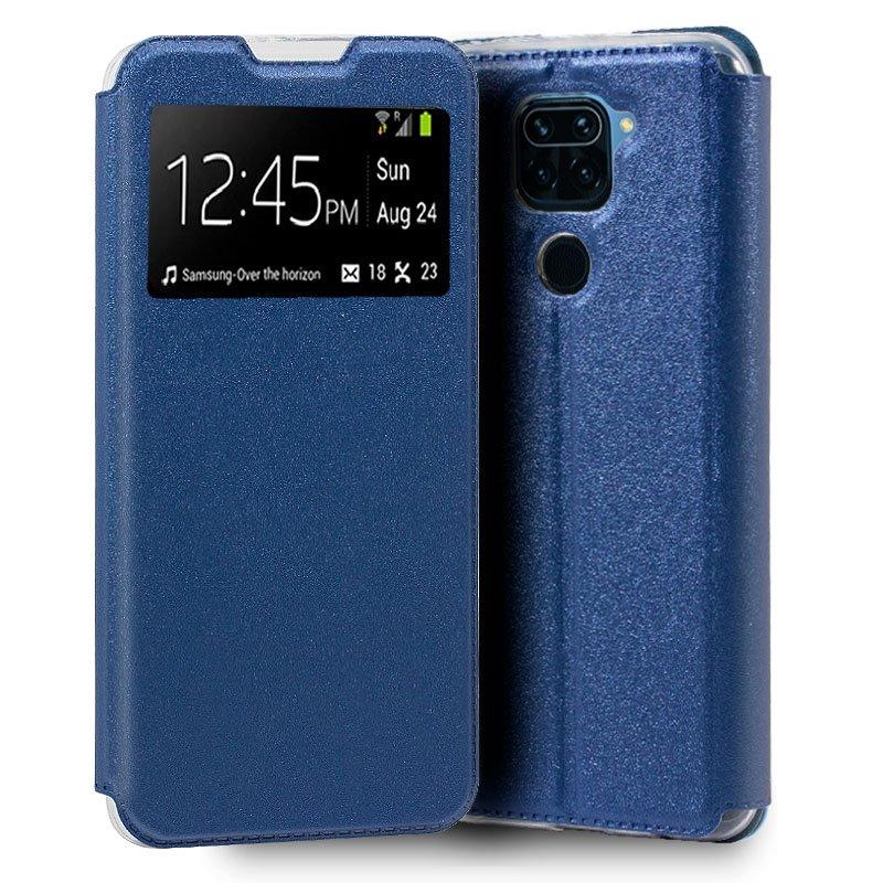 Funda Flip Cover Xiaomi Redmi Note 9 Liso Azul