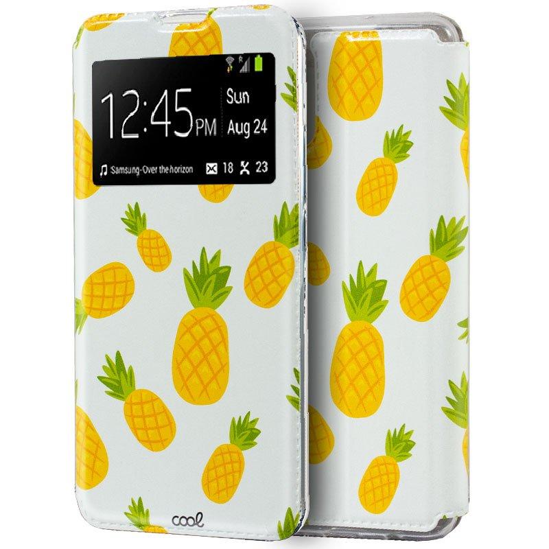 Funda Flip Cover Samsung A715 Galaxy A71 Dibujos Piñas