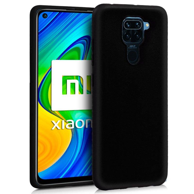 Funda Silicona Xiaomi Redmi Note 9 (Negro)
