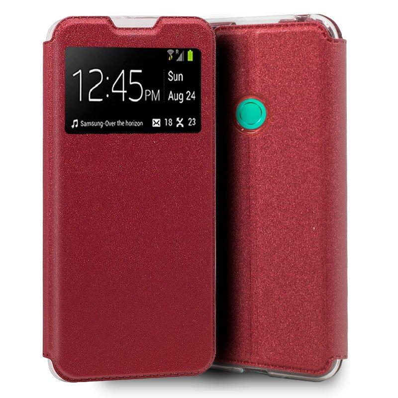 Funda Flip Cover Huawei P40 Lite E Liso Rojo