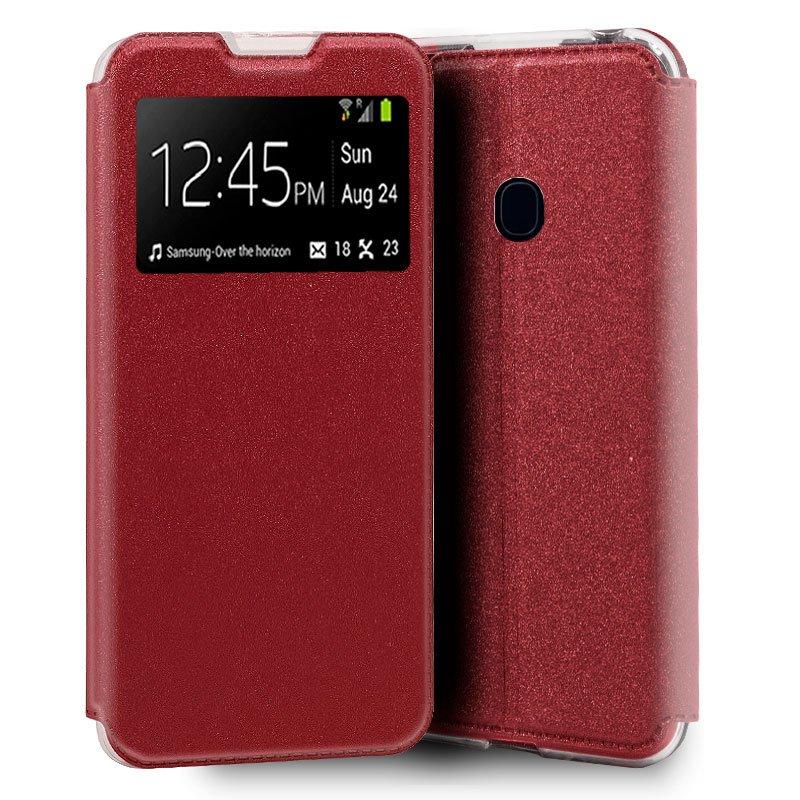 Funda Flip Cover Samsung M315 Galaxy M31 Liso Rojo