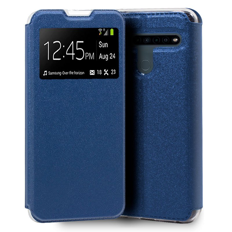 Funda Flip Cover LG K41s / K51s Liso Azul