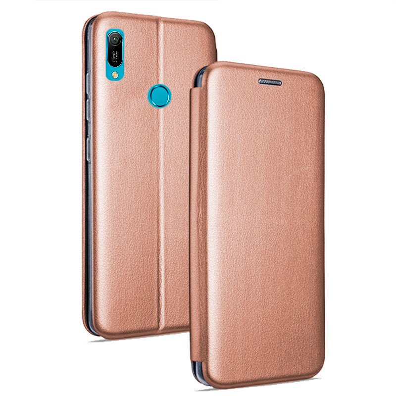 Funda Flip Cover Huawei Y6 (2019) / Y6s / Honor 8A Elegance Rose Gold