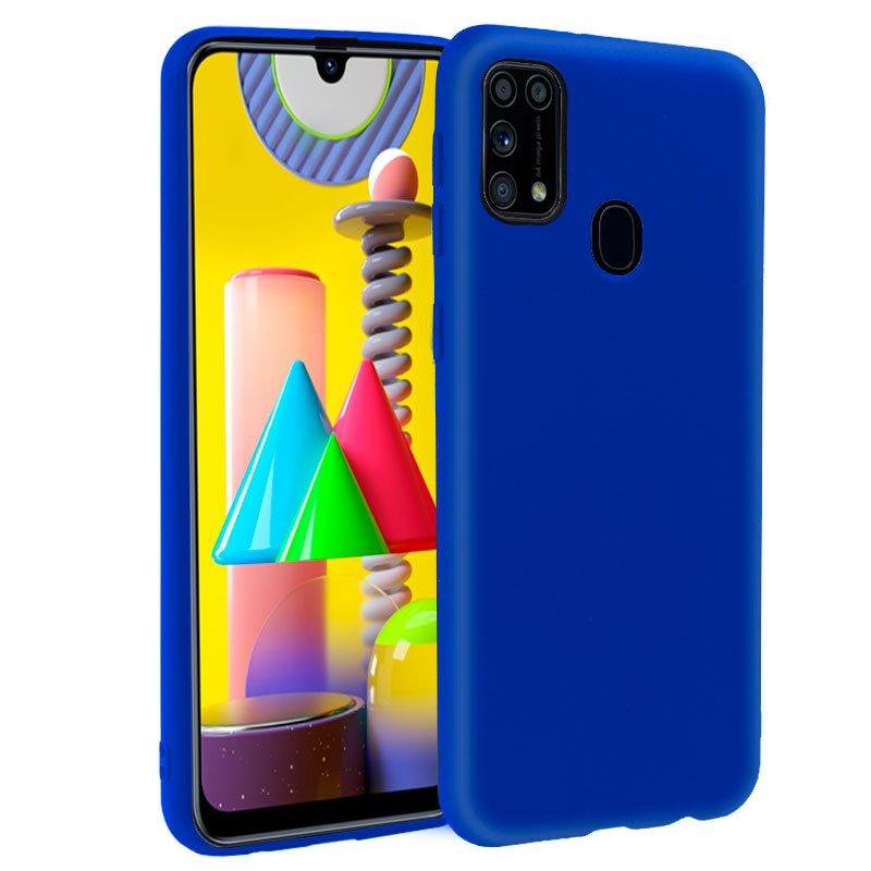 Funda Silicona Samsung M315 Galaxy M31 (Azul)