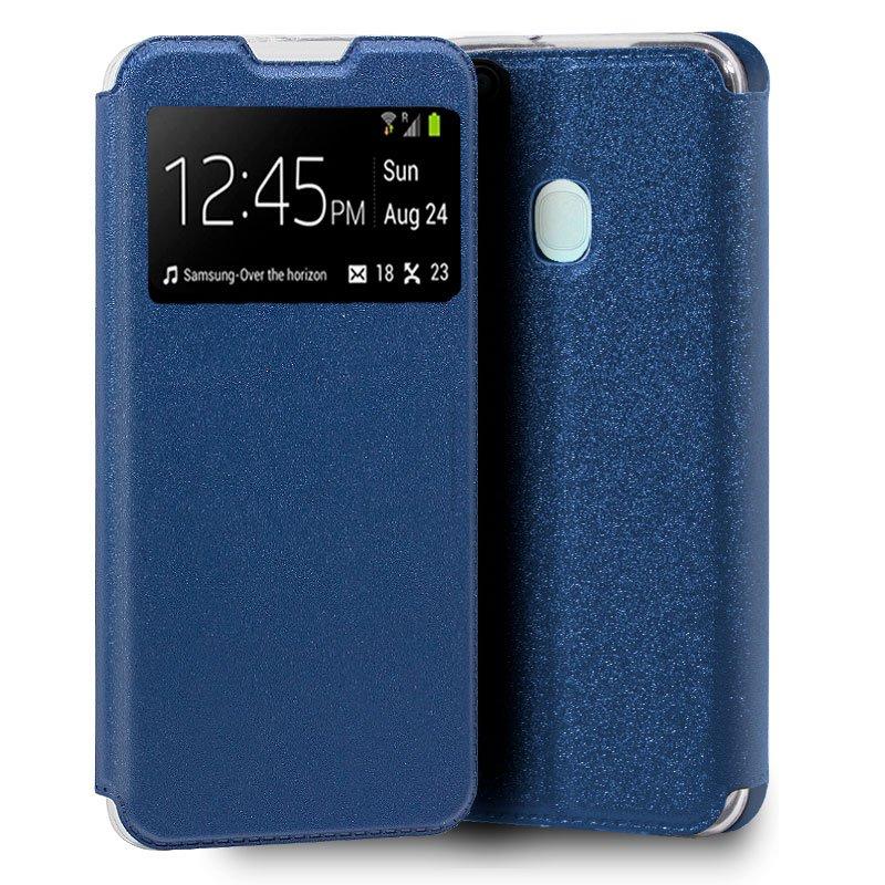 Funda Flip Cover Samsung A217 Galaxy A21s Liso Azul