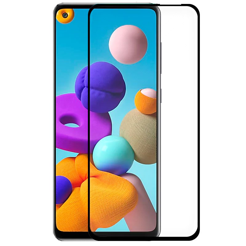 Protector Pantalla Cristal Templado COOL para Samsung A217 Galaxy A21s (FULL 3D Negro)