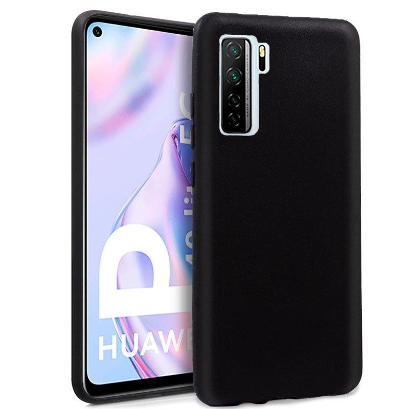 Funda Silicona Huawei P40 Lite 5G (Negro)