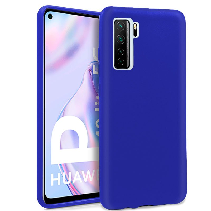 Funda Silicona Huawei P40 Lite 5G (Azul)