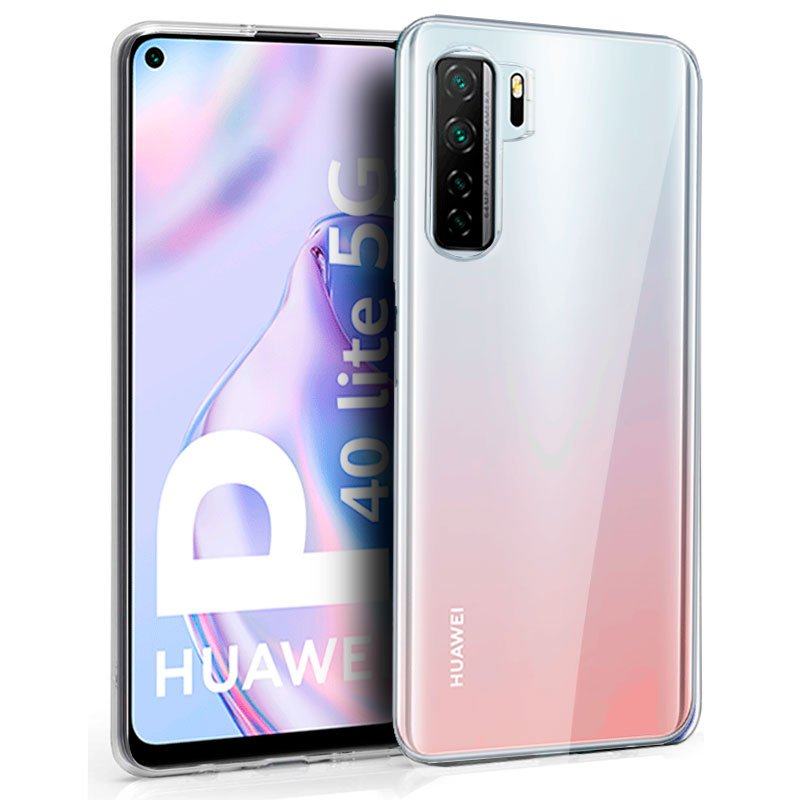 Funda Silicona Huawei P40 Lite 5G (Transparente)
