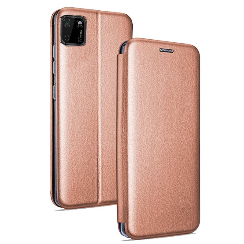 Funda Flip Cover Huawei Y5p Elegance Rose Gold