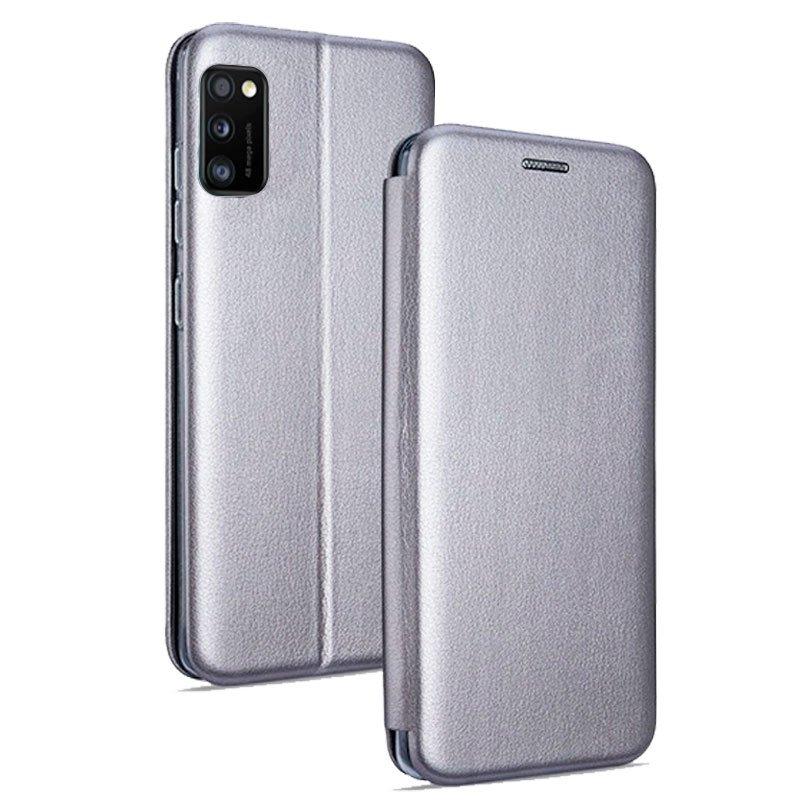 Funda Flip Cover Samsung A415 Galaxy A41 Elegance Plata