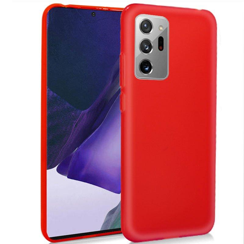 Funda Silicona Samsung N985 Galaxy Note 20 Ultra (Rojo)