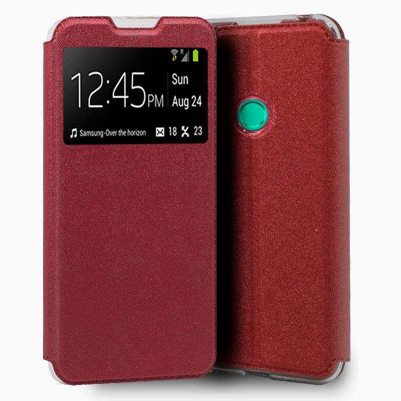 Funda Flip Cover Huawei P Smart 2020 Liso Rojo