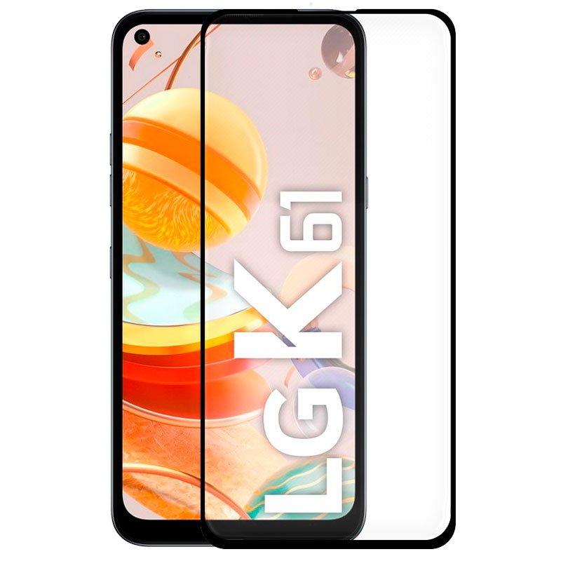 Protector Pantalla Cristal Templado LG K61 (FULL 3D Negro)