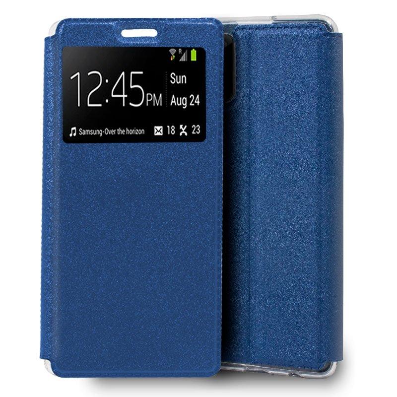 Funda Flip Cover Samsung N980 Galaxy Note 20 Liso Azul