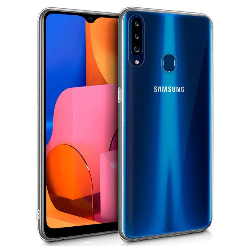 Funda Silicona Samsung A207 Galaxy A20s (Transparente)