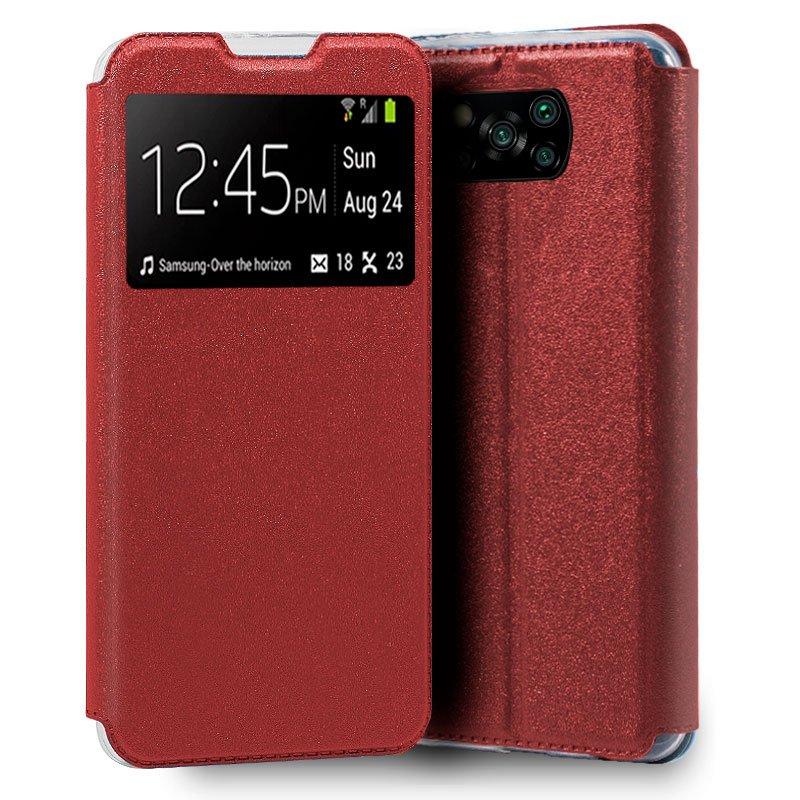 Funda Flip Cover Xiaomi Pocophone X3 Liso Rojo