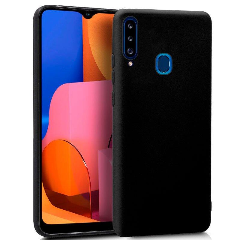 Funda Silicona Samsung A207 Galaxy A20s (Negro)