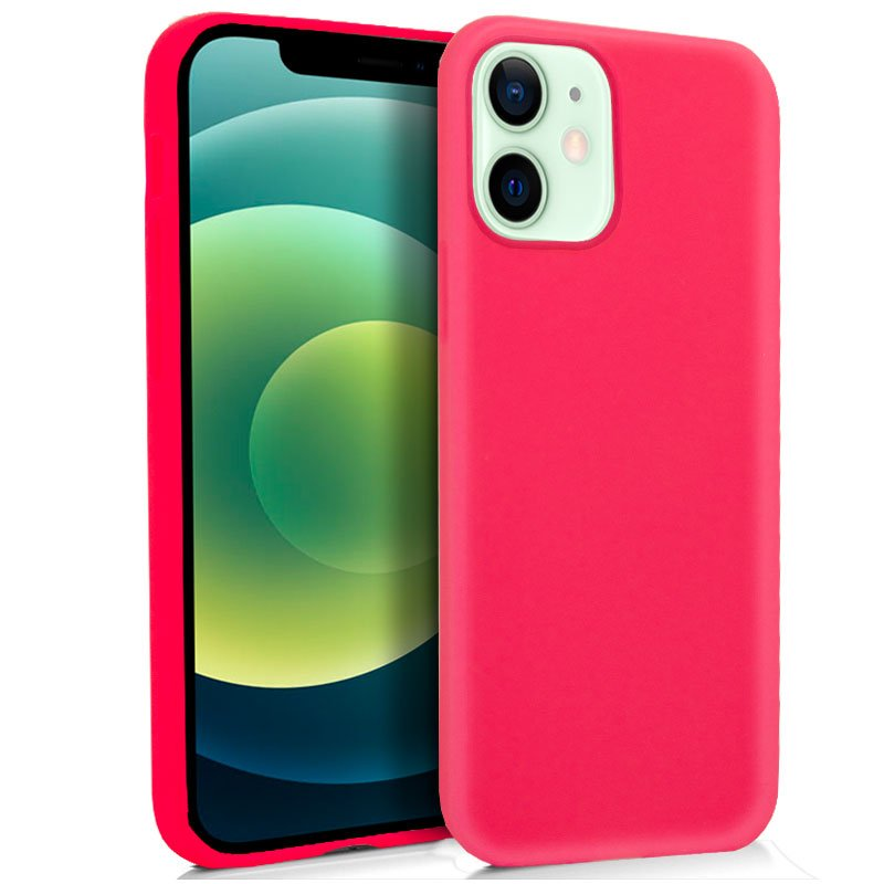 Funda Silicona iPhone 12 / 12 Pro (Rosa)